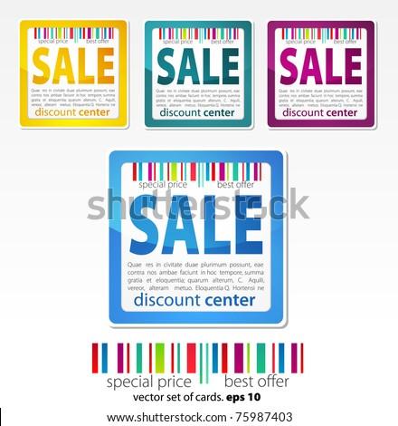 color vector sale stickers - stock vector