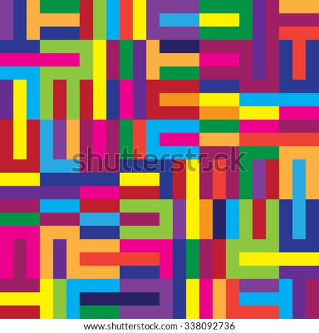 Color vector seamless pattern, abstract geometric background illustration - stock vector