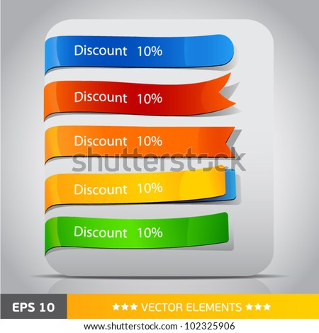 Color vector tags discount - stock vector