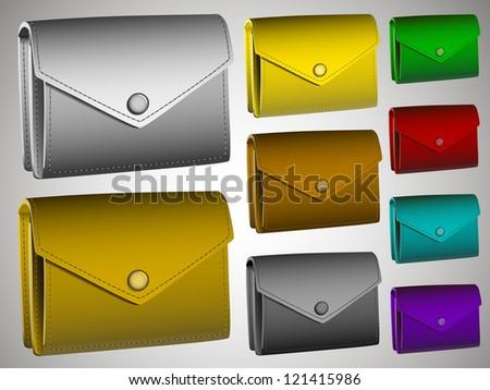 Color wallets - stock vector
