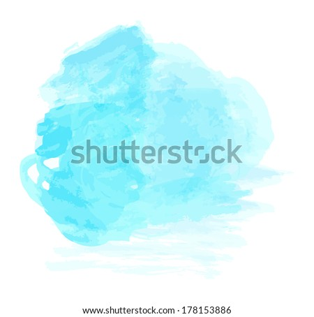 Color water paint, Abstract vector isolated  - stock vector