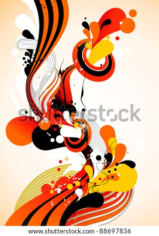 color waves vector illustration