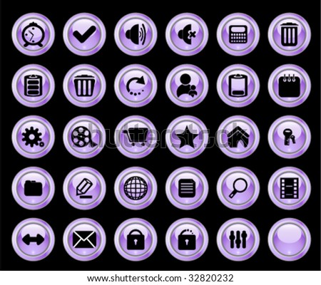 Color web buttons. Vector illustration