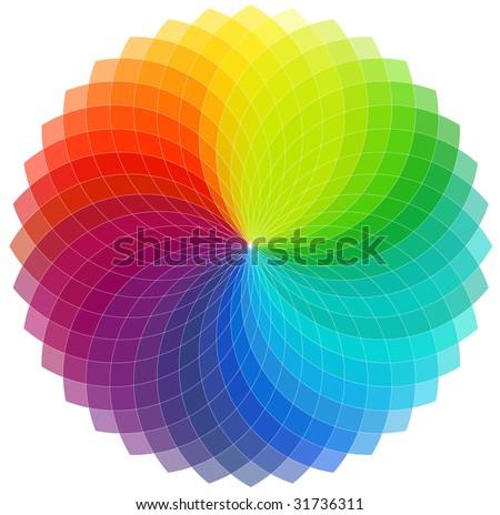 Color wheel background (vector) - stock vector