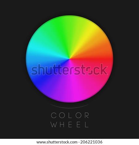 Color Wheel   EPS10 Vector - stock vector