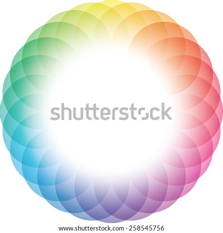 Color Wheel Frame Background. Vector Eps10. - stock vector