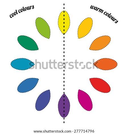 Color wheel palette - stock vector