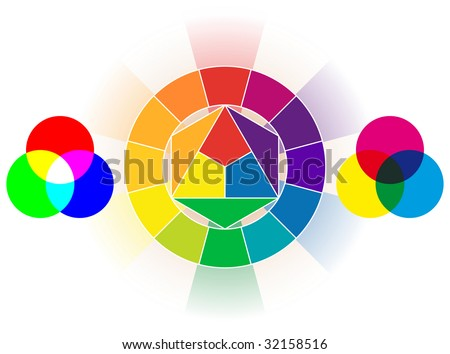 Color wheel set - stock vector