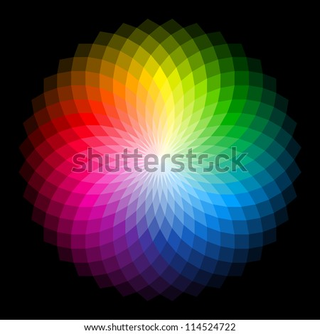 Color wheel. Vector. - stock vector