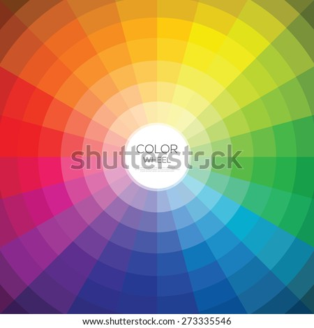 Color wheel. Vector illustration  - stock vector