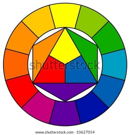 Color wheel with 12 patterns (vector) - stock vector