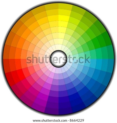 Color wheel with 192 patterns (vector) - stock vector