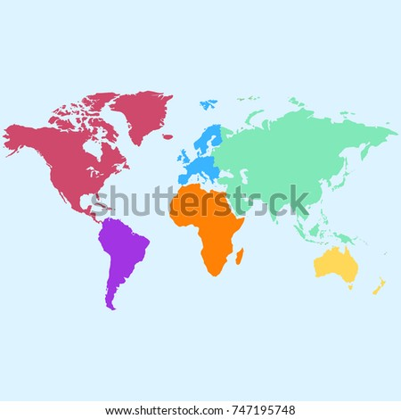 Color world map vector stock vector hd royalty free 747195748 color world map vector gumiabroncs Choice Image