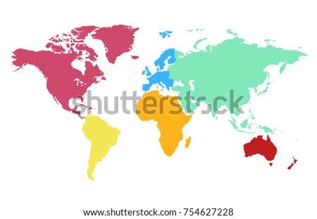 Color world map vector vectores en stock 754627228 shutterstock gumiabroncs Gallery