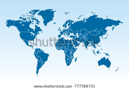 Color world map vector stock vector hd royalty free 777388735 color world map vector stock vector hd royalty free 777388735 shutterstock gumiabroncs Choice Image