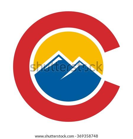 colorado hill logo vector stock vector 369358748 shutterstock rh shutterstock com colorado flag vector art free