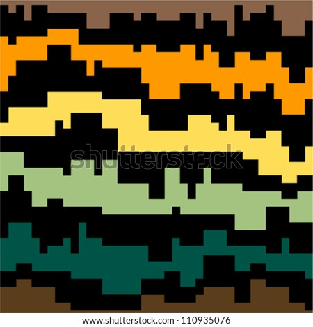 Colored abstract pattern - stock vector