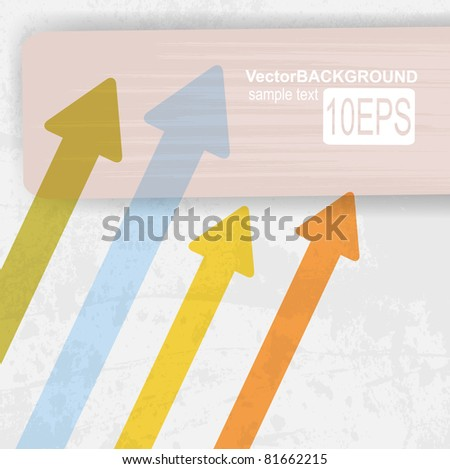 Colored arrows abstract vector background. For design - stock vector