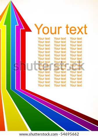 colored arrows card - stock vector