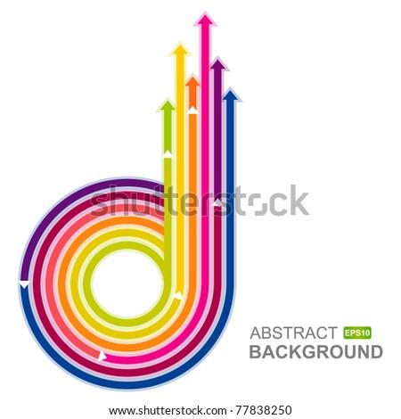 Colored arrows vector - stock vector