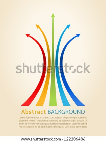 Colored arrows, vector. Design template. - stock vector