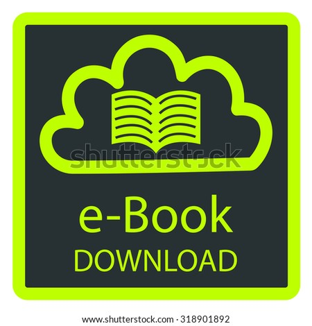 Colored background with an e-book icon. Vector illustration - stock vector