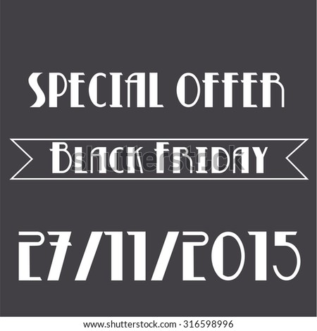Colored background with text for black friday