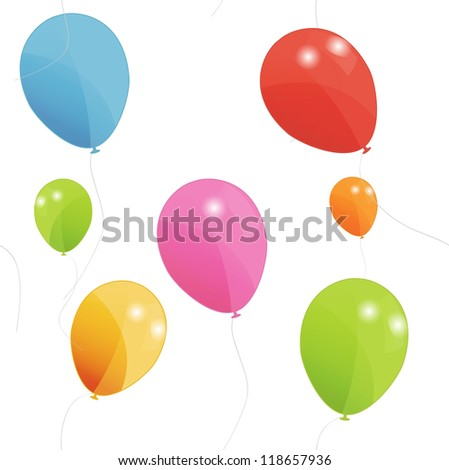 Colored balloons seamless pattern, vector illustration. Eps 10 - stock vector