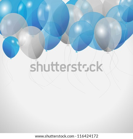 colored balloons, vector illustration - stock vector