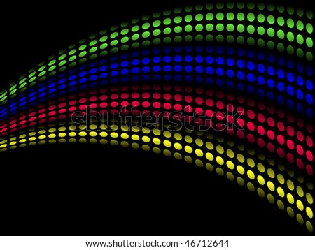 Colored bands of light