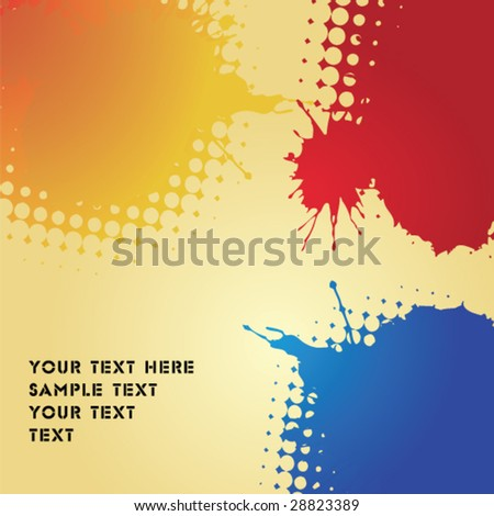 colored blobs - stock vector