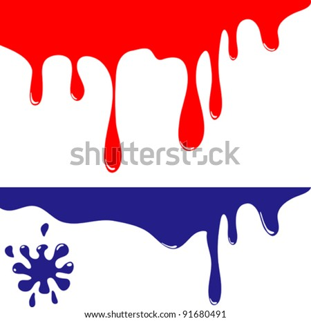 Colored Blots - stock vector