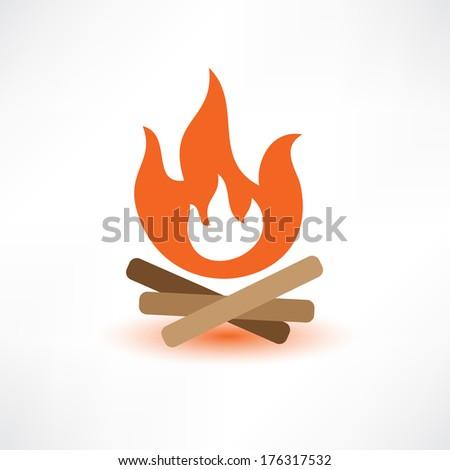 Colored bonfire - stock vector