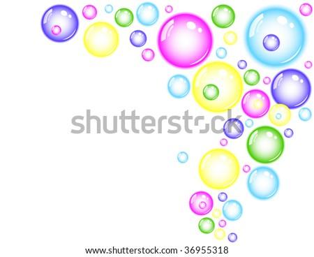 colored bubble splash - stock vector