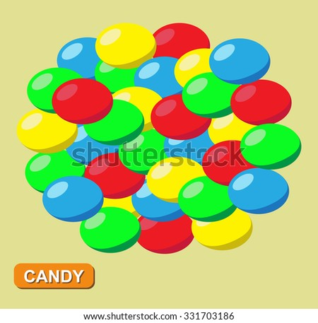 Colored candy, Vector - stock vector