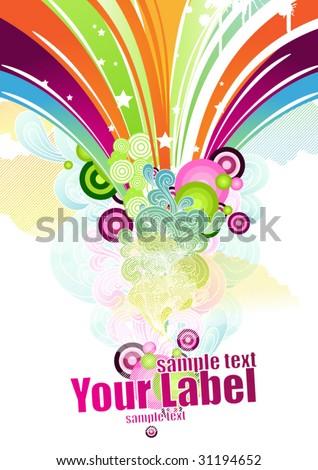 Colored design - stock vector