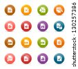 Colored Dots - File format icons - stock vector