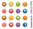 Colored Dots - Weather and Meteorology Icons - stock vector
