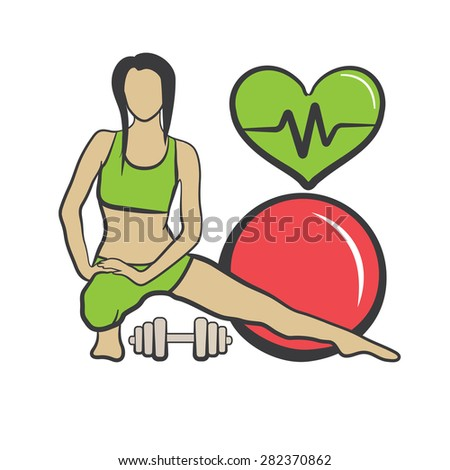 Colored fitness vector illustration - stock vector