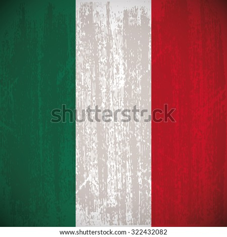 Colored flag with details and grunge texture