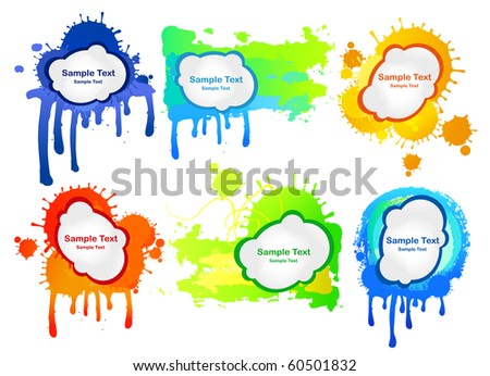 Colored frames - stock vector