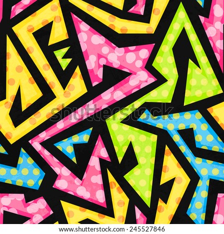 colored geometric seamless pattern - stock vector