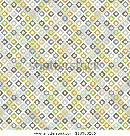 Colored geometric seamless pattern with rhombuses - stock vector