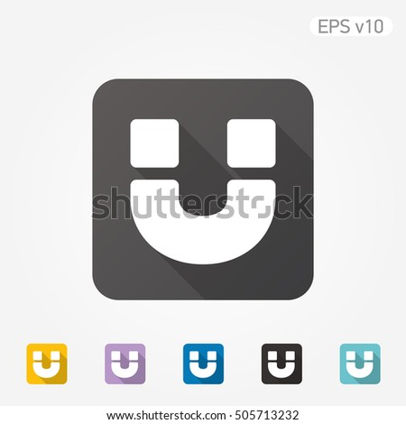 Colored Icon Magnet Symbol Shadow Stock Vector 505713232 - Shutterstock