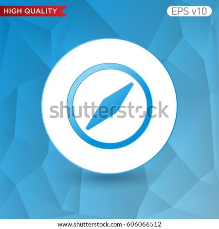 Colored Icon Button Compass Symbol Background Stock Vector 606066512