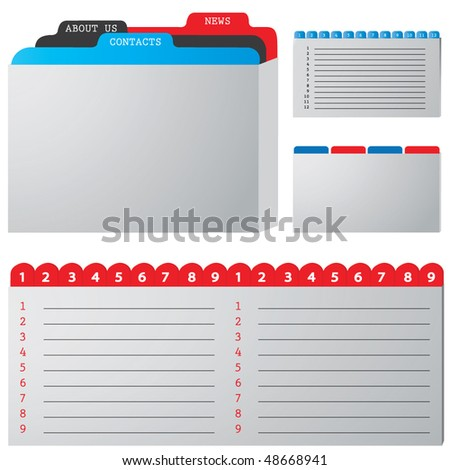 colored illustration of a folder containing documents - stock vector