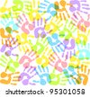 colored imprints hands - stock