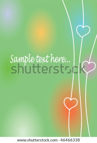 colored love background - stock vector