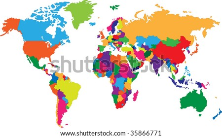 Country Map Stock Images RoyaltyFree Images Vectors Shutterstock - Map of countries of the world