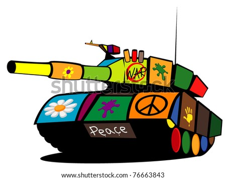 colored military tank